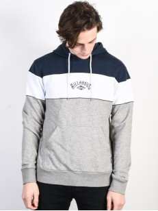 BILLABONG mikina NINETY ONE GREY HEATHER