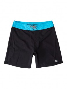 BILLABONG koupací šortky ALL DAY OG BLACK/CYAN