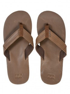 BILLABONG žabky SEAWAY LEATHER CHOCOLATE