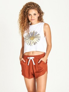 ELEMENT tílko SUNFLOWER CROP WHITE