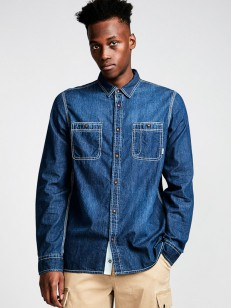 ELEMENT košile PACE LIGHT BLUE DENIM
