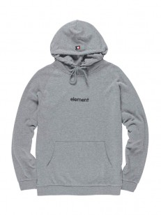 ELEMENT mikina BIG HOOD FRENCH TERRY GREY HEATHER