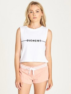 ELEMENT tílko LINE LOGO CROP WHITE