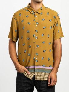 RVCA košile LUX ANTIQUE BRONZE