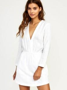 RVCA šaty DOUBLE DARE WHITE