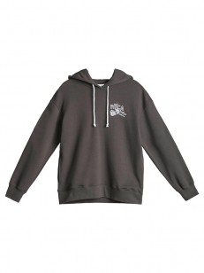 RVCA mikina THORNS AND ROSES PIRATE BLACK