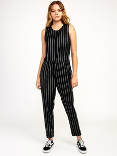 RVCA overal POP OUT BLACK STRIPE