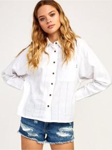 RVCA košile WINGING IT WHITE