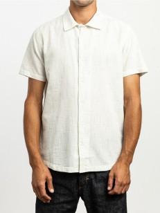 RVCA košile HI GRADE FLECK ANTIQUE WHITE
