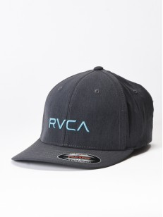 RVCA kšiltovka FLEX FIT CHARCOAL HEATHER