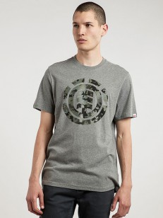 ELEMENT triko BARK LOGO GREY HEATHER