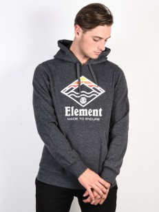 ELEMENT mikina LAYER CHARCOAL HEATHER