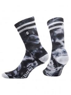 ELEMENT ponožky CLOUDY BLACK TIE DYE