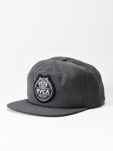 RVCA kšiltovka RVCA PATCH CHARCOAL HEATHER
