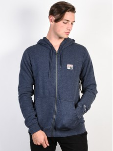 RVCA mikina FOXHOLE DENIM HEATHER