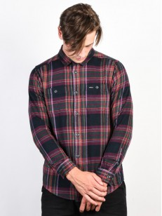 RVCA košile LUDLOW FLANNEL PIRATE BLACK