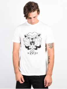 RVCA triko BEAR FRONT ANTIQUE WHITE