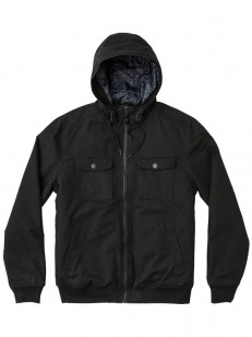 RVCA bunda HOODED BOMBER II RVCA BLACK