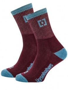 HORSEFEATHERS ponožky JAYDEN burgundy