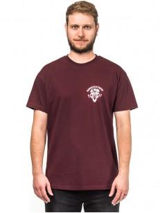 HORSEFEATHERS tričko BEAR SKULL burgundy