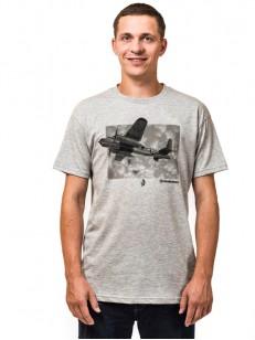 HORSEFEATHERS tričko BOMBER ash