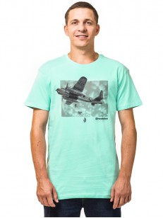 HORSEFEATHERS tričko BOMBER misty jade