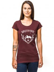 HORSEFEATHERS tričko AGNES burgundy