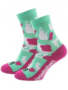 HORSEFEATHERS ponožky TAWA misty jade