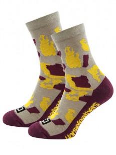 HORSEFEATHERS ponožky TAWA sangria