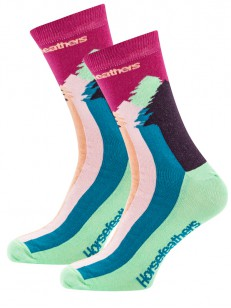 HORSEFEATHERS ponožky TREA fuchsia