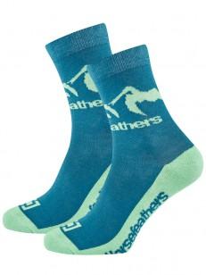 HORSEFEATHERS ponožky MONTA carribbean blue