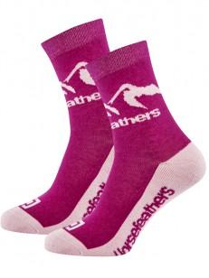 HORSEFEATHERS ponožky MONTA fuchsia