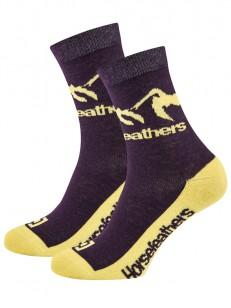 HORSEFEATHERS ponožky MONTA grape