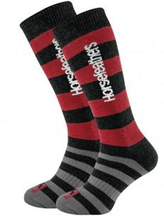 HORSEFEATHERS ponožky ZANE LONG THERMOLITE red