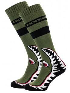 HORSEFEATHERS ponožky SHARK olive