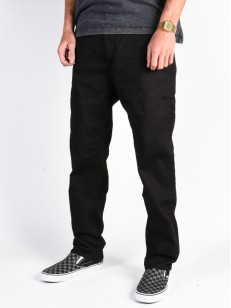 DC nohavice WORKER RELAXED BLACK RINSE