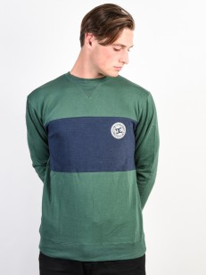 DC mikina REBEL CREW BLOCK HUNTER GREEN