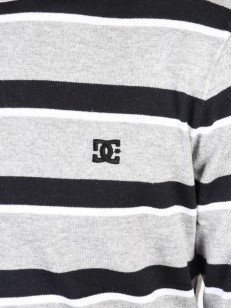 DC svetr SABOTAGE STRIPE GREY HEATHER