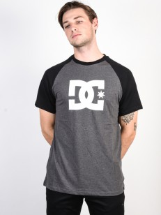 DC triko STAR BLACK/ CHARCOAL HEATHER