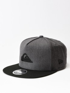QUIKSILVER kšiltovka STUCKLES CHARCOAL HEATHER