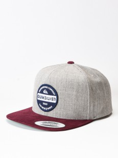 QUIKSILVER kšiltovka FIRM CHOWDER MEDIUM GREY HEAT
