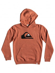 QUIKSILVER mikina BIG LOGO BARN RED HEATHER