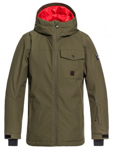 QUIKSILVER bunda MISSION SOLID GRAPE LEAF