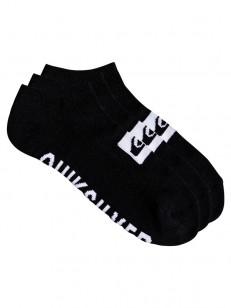 QUIKSILVER ponožky ANKLE 3PACK BLACK