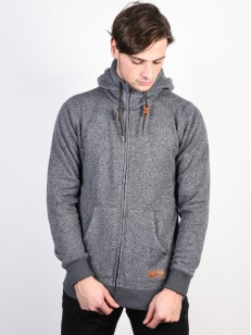 QUIKSILVER mikina KELLER DARK GREY HEATHER