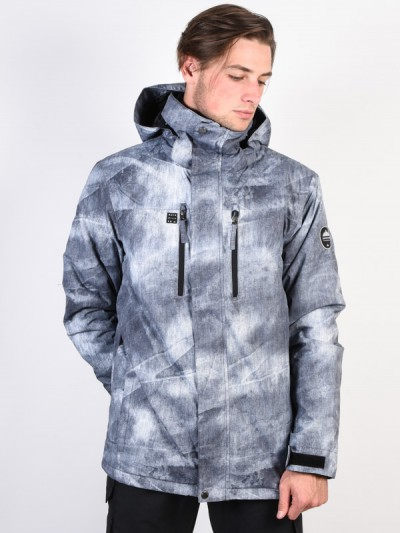 QUIKSILVER bunda MISSION PRINTED GREY SIMPLE TEXTU   MegaSkate.cz ced1d98692e