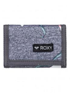 ROXY peňaženka SMALL BEACH 2 CHARCOAL HEATHER FLOW