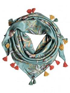ROXY šátek TAKE A RIDE TRELLIS BIRD FLOWER