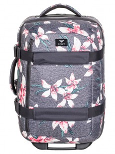 ROXY kufr WHEELIE 2 CHARCOAL HEATHER FLOWER FIELD