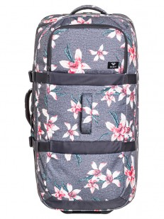 ROXY kufr LONG HAUL 2 CHARCOAL HEATHER FLOWER FIEL